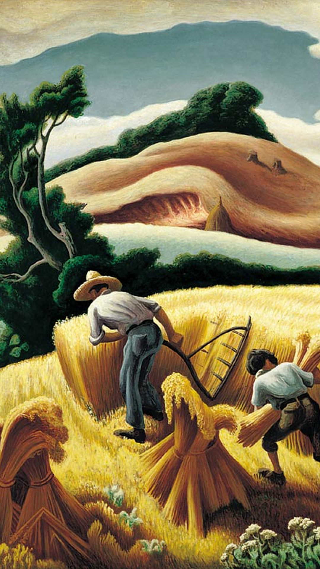 an analysis of cradling wheat a painting by thomas hart benton This statue of thomas hart benton was given to the national statuary hall collection by missouri in 1899 his family migrated to tennessee, where his father died as a young man, benton was left in charge of considerable land holdings he established a law practice and served as a colonel in the.