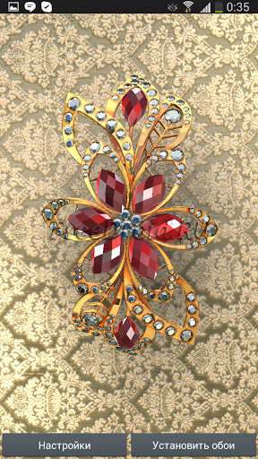 Gold Jewel 3D Live Wallpaper